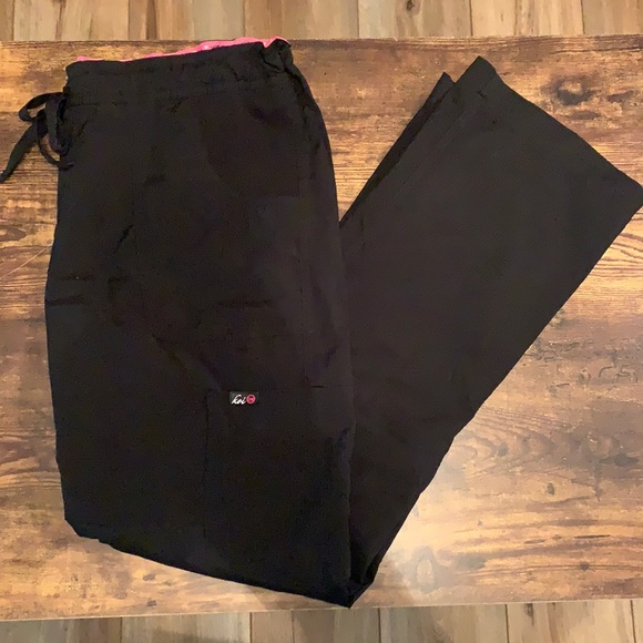 Koi Scrub Pants in Black